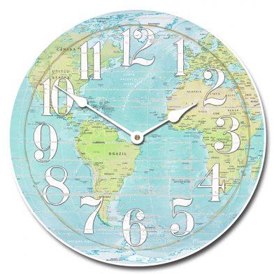 Shabby Chic Map Clock