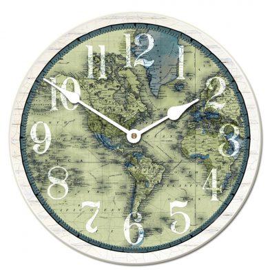 Verde Map Clock