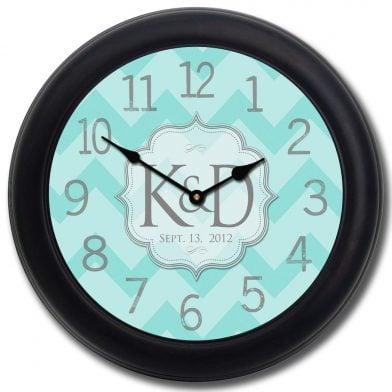 Wedding Clock 7 blk frm