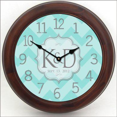 Wedding Clock 7 brn frm