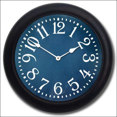 Colonial Blue Clock blk frm
