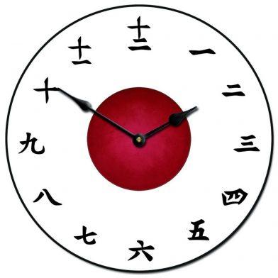 Kanji Clock White