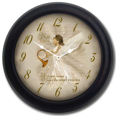 O Night Divine Clock blk frm