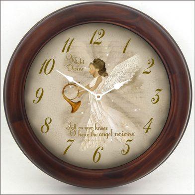 O Night Divine Clock brn frm