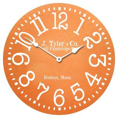 Tangerine Clock