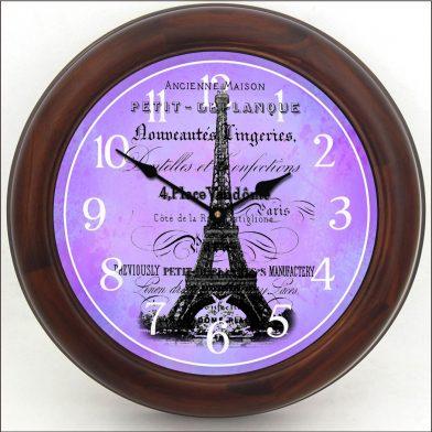 Paris Love Clock brn frm