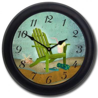 Summertime Clock blk frm