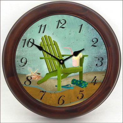 Summertime Clock brn frm