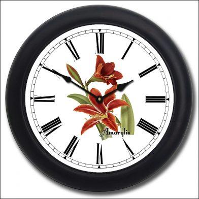 Amarylis Clock black frame