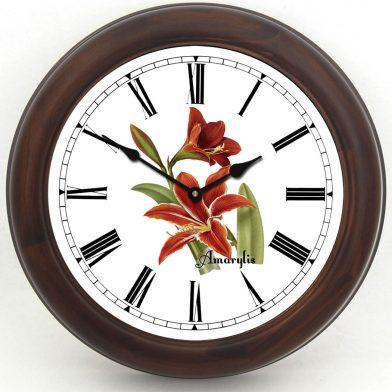 Amarylis Clock brown frame