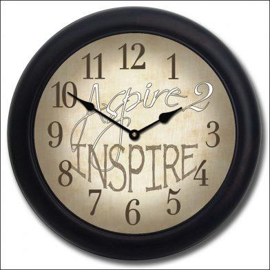 Aspire 2 Inspire Clock blk frm