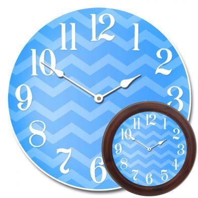 Chevron Blue Clock mix