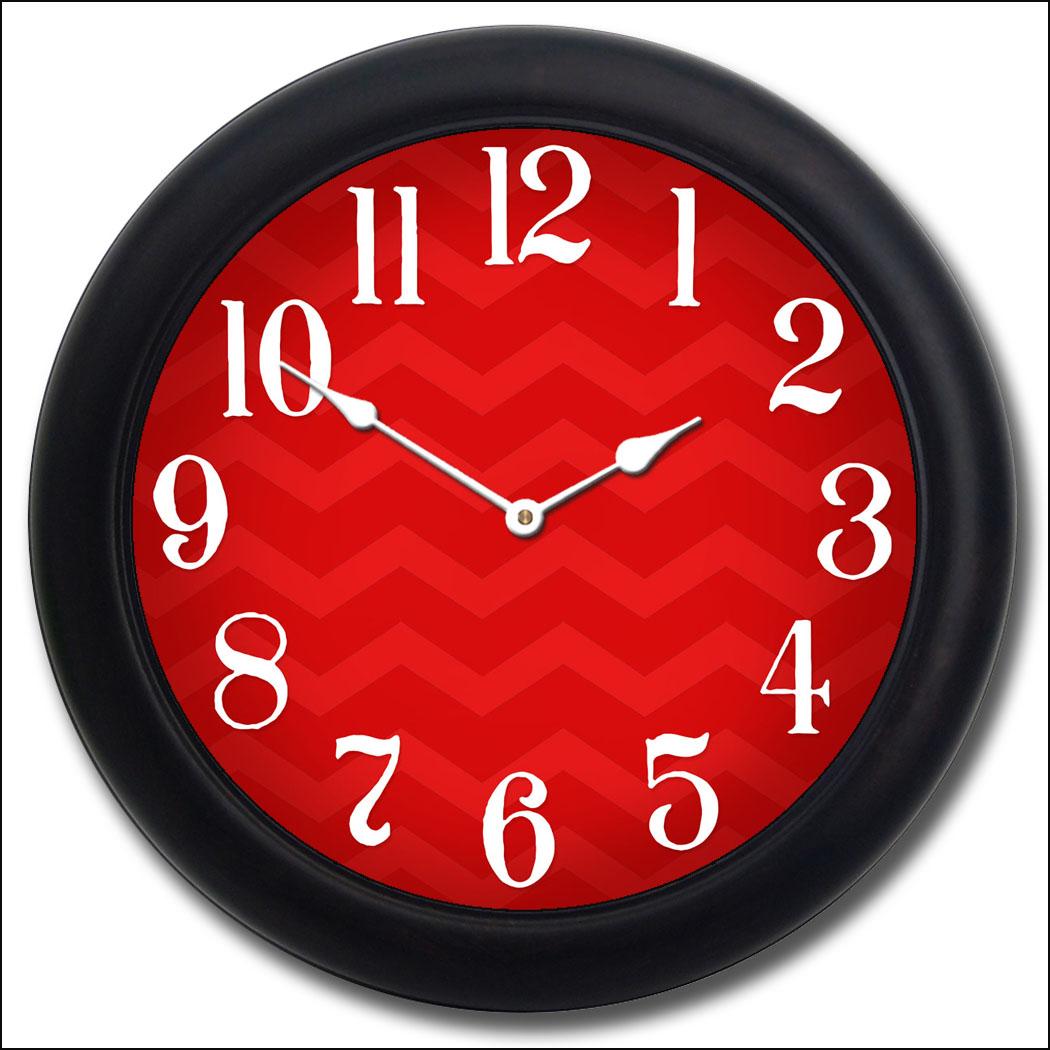 Chevron Red Clock The Big Clock Store