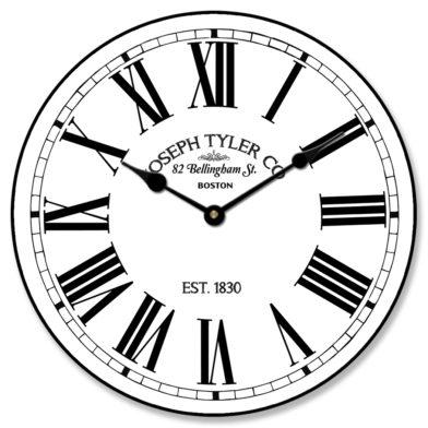 Hamilton White Clock
