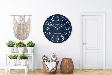 Navy clock in room