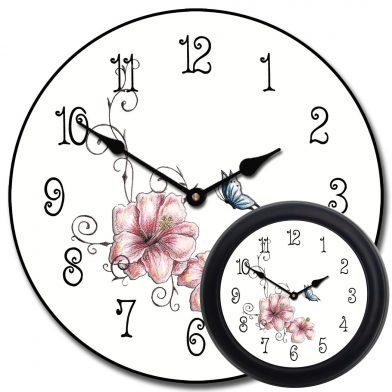 Pink Floral Clock mix