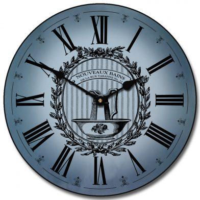Powder Room Blue Clock