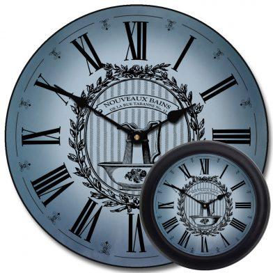 Powder Room Blue Clock mix