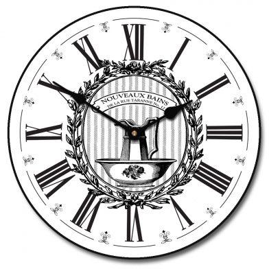 Powder Room White Clock
