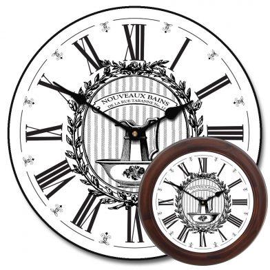 Powder Room White Clock mix
