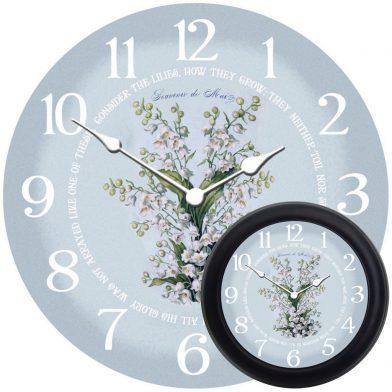 White Flowers Clock mix