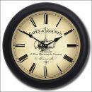 Cafe Clock blk frm