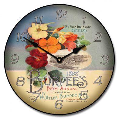 Garden Seeds Clock