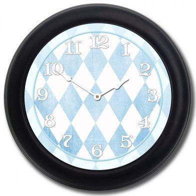 Harlequin Blue Clock blk frm