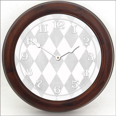 Harlequin Gray Clock brn frm