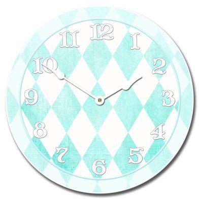 Harlequin Turquoise Clock