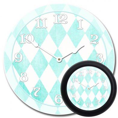 Harlequin Turquoise Clock mix