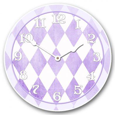 Harlequin Violet Clock