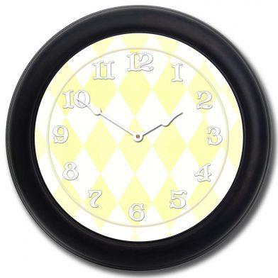 Harlequin Yellow Clock blk frm