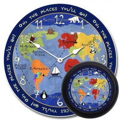 Kids World Map Clock mix