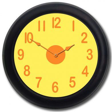 Lemon Twist Clock blk frm