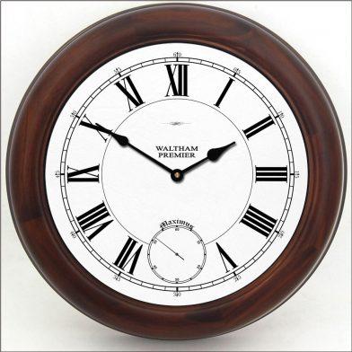 Waltham White Clock brn frm