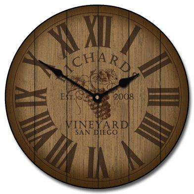 Wine Barrel Lid Clock