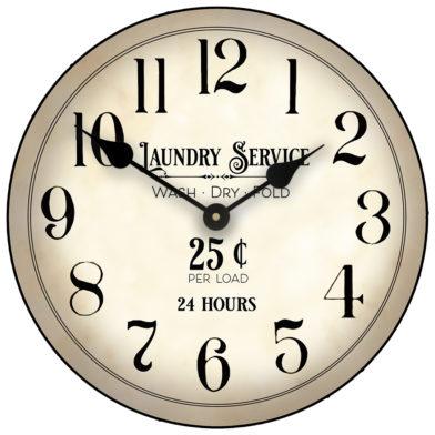 laundry room clock new