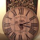 Customer's picture of wine barrel lid clock