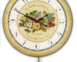 Emilie Floral Pendulum clock
