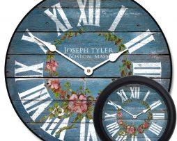Blue Floral Wall Clocks