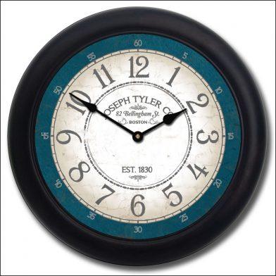 Bellingham Blue Clock blk frm