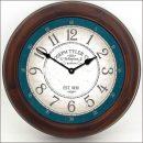 Bellingham Blue Clock brn frm