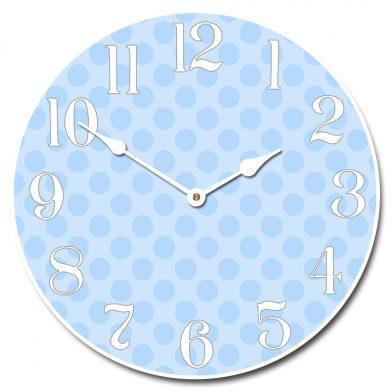 Blue Polka Dot Clock