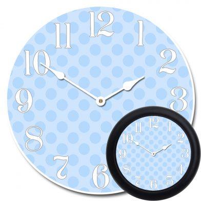 Blue Polka Dot Clock mix