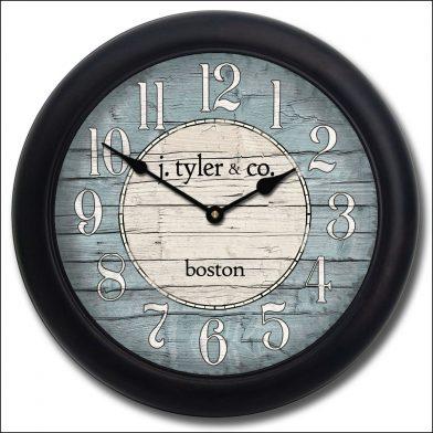 Boston Harbor Blue Clock blk frm