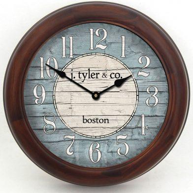 Boston Harbor Blue Clock brn frm