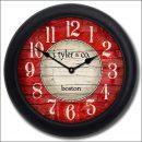 Boston Harbor Red Clock blk frm