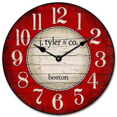 Boston Harbor Red Clock1
