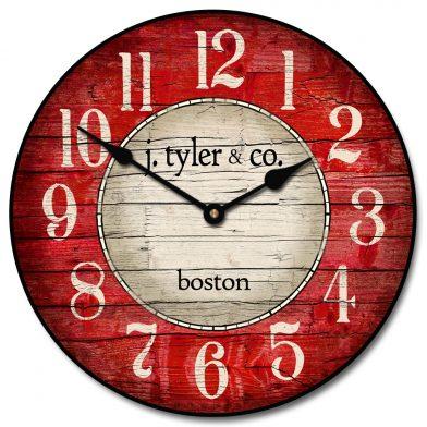 Boston Harbor Red Clock